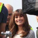 Lea Michele Set Of Glee In La