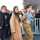 Barbara Palvin and Dylan Sprouse – Arrives at the Prada Fashion Show in Milan