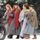 Emma Watson, Saoirse Ronan, Florence Pugh and Eliza Scanlen – Filming 'Little Women' Set in Cambridge - 454 x 303
