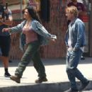 Salma Hayek – On the set of 'Bliss' in Los Angeles - 454 x 303