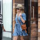 Reese Witherspoon in Denim Dress at Gjelina in Venice