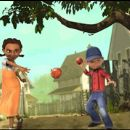 Raven as Marti Brewster (voice) and Jake T. Austin as Yankee Irving (voice) in Everyone's Hero - 2006