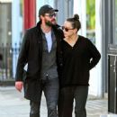 Daisy Ridley and Tom Bateman – Out in Primrose Hill - 454 x 635