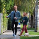 Brittany Snow – Walk her dog out in Los Angeles - 454 x 484