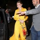Gigi Hadid in Yellow – Leaves an event in NYC