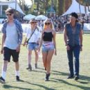 Richie Sambora, Ava Sambora and Orianthi at Day 3 of first weekend of The Coachella Valley Music and Arts Festival in Coachella, California on April 11, 2015