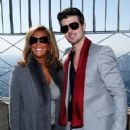 Denise Rich & Robin Thicke Light The Empire State Building