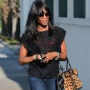 Naomi Campbell In Jeans Out In Beverly Hills