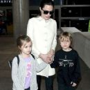 Angelina Jolie Arriving At Lax Airport In Los Angeles