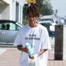 Jaden Smith is spotted shopping on Melrose in Los Angeles, California with a friend on October 14, 2016 - 437 x 600