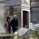 Ryan Gosling and Eva Mendes at the Pere Lachaise Cemetery in Paris, November 26, 2011