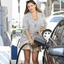 Kelly Brook At A Gas Station In West Hollywood