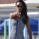 Zoe Saldana in Swimsuit on Holiday in Marmi - 454 x 681
