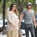 Nikki Reed with Ian Somerhalder out in Los Angeles - 454 x 687
