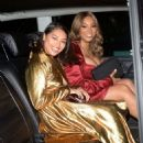 Vanessa White and Munroe Bergdorf – Leaving Pat McGrath Party in London - 454 x 672