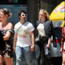 Sophie Turner and Joe Jonas – Out for some lunch in Barcelona - 454 x 589
