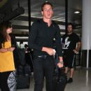 Ryan Lochte arrived at the LAX Airport in Los Angeles, California on August 24, 2012