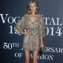 Toni Garrn Vogue Italia 50th Anniversary At Piazza Castello In Italy
