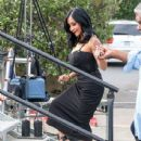 Nicole 'Snooki' Polizzi stop by the 'Extra' set January 26,2015 - 437 x 600