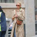 Elsa Hosk in Beige Coat – Out in NYC