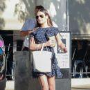 Lea Michele – Leaving Joan's on Third in Studio City - 454 x 681