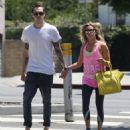 Ashley Tisdale and her fiance Christopher French stopping by a beauty store and grabbing lunch while out in West Hollywood, California - August 13, 2013