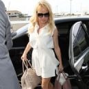 Pamela Anderson At Lax Airport In La