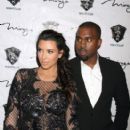 Kim Kardashian: hosts the New Years Eve Countdown held at 1 Oak nightclub at the Mirage Hotel and Casino in Las Vegas