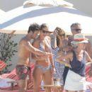 Vogue Williams in Bikini at a beach in Saint Barts - 454 x 681
