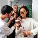 Shay Mitchell on set to promote the Biore Deep Cleansing Charcoal Pore Strips in LA