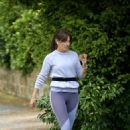 Davina McCall – Jog in a country park in Kent - 454 x 649