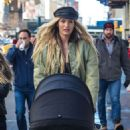 Candice Swanepoel With Her Son Out in NYC - 454 x 589
