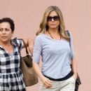 Jennifer Aniston: heads to a nearby movie theater in Wilmington