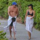 Jamie Chung – In bikini filming in Hawaii - 454 x 303