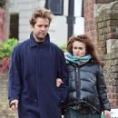 Helena Bonham Carter out with Rye Dag Holmboe and son in North London