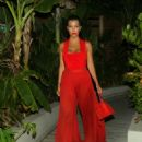 Kourtney Kardashian In Red Out In St Barts