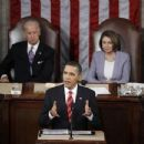 Joe Liden & Nancy Pelosi At President Barack Obama's State Of The Union Speech 2009