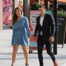 Kelly Brook in Jeans Dress – Outside ITV Studios in London