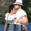 Nikki Reed and Ian Somerhalder out in Venice - 454 x 702
