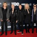 Def Leppard attend the 2019 Rock & Roll Hall Of Fame Induction Ceremony - Press Room at Barclays Center on March 29, 2019 in New York City - 454 x 303
