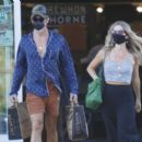 Annabelle Wallis and Chris Pine – Shopping in Los Angeles - 454 x 392