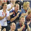 Prince Harry watching Team GB compete in the cycling competitions as part of the 2012 Summer Olympic Games. (August 2)