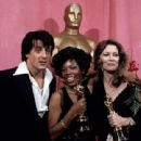 Sylvester Stallone, Eletha Finch and Faye Dunaway during The 49th Annual Academy Awards (1977)