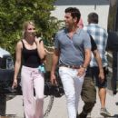Emma Roberts  and John Stamos – On the Set of 'Scream Queens' in LA 7/27/2016 - 454 x 554