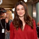 Crystal Reed – Longchamp Fashion Show in NYC