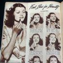 Rita Hayworth - Movie Life Magazine Pictorial [United States] (February 1940)