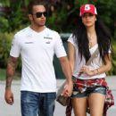 Nicole Scherzinger: showed up at the Malaysian Grand Prix practice area