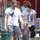 Amy Adams, & daughter stop for some ice cream while at the park in Los Angeles, California on September 7,2014