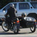 Brad Pitt and Pax: Motorcycle Men