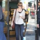 Taylor Swift was spotted grabbing Starbucks today, February 1, in Los Angeles